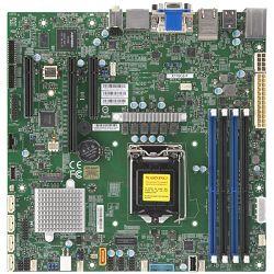 Supermicro mainboard sever MBD-X12SCZ-F-O, E-2200 Processor, Intel C246 controller for 5 SATA3 (6 Gbps) ports; RAID 0,1,5,10, 1x Ethernet Controller I210-AT