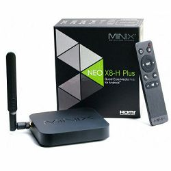 Media Player MINIX NEO X8H Plus Android TV Box, QuadCore Cortex A9r4, UHD 4K, 2GB DDR3 MEM, 16GB eMMC, 3xUSB2.0, 1xOTG, SD čitač, HDMI, Bluetooth, LAN, Dual Band WiFi, Android 4.4.2 KitKat