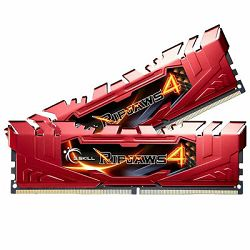 Memorija PC-19200, 16 GB, G.SKILL Ripjaws 4 series, F4-2400C15D-16GRR, DDR4 2400MHz, kit 2x8GB