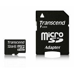 Memorijska kartica Transcend SD MICRO 32GB HC Class10 + SD a