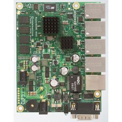 MikroTik RouterBoard with Dual Core 500MHz PowerPC CPU