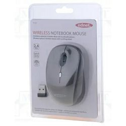 Miš Ednet Wireless Notebook, sivi 81165