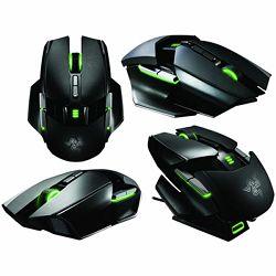 Miš RAZER Ouroboros, dual laserski, 8200dpi, 4G, crni, USB, prilagodljiva veličina