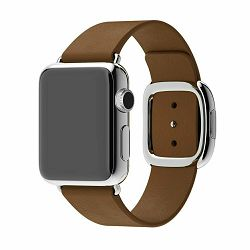 mj562zm/a - Apple Watch 38mm Band: Brown Modern Buckle - Large - 888462180443