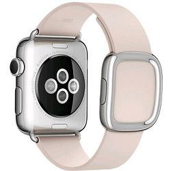 mj592zm/a - Apple Watch 38mm Band: Soft Pink Modern Buckle - Large - 888462180504