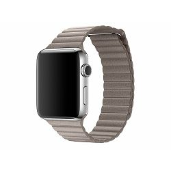 mnky2zm/a - Apple Watch 42mm Band: Smoke Grey Leather Loop - Medium - 190198112187