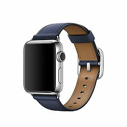 mpwd2zm/a - Apple Watch 38mm Band: Midnight Blue Classic Buckle - 190198376558