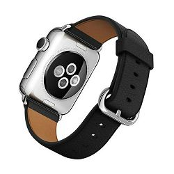 mpwr2zm/a - Apple Watch 42mm Band: Black Classic Buckle - 190198376855