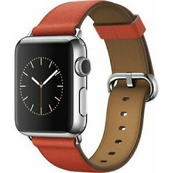 mpwx2zm/a - Apple Watch 42mm Band: Red Classic Buckle - 190198377005