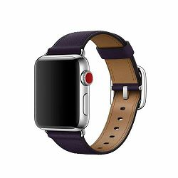 mqv12zm/a - Apple Watch 38mm Band: Dark Aubergine Classic Buckle - 190198579782