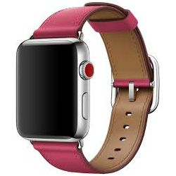 mqv22zm/a - Apple Watch 42mm Band: Pink Fuchsia Classic Buckle - 190198579829
