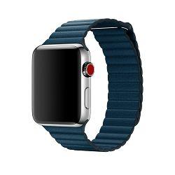 mqv52zm/a - Apple Watch 42mm Band: Cosmos Blue Leather Loop - Medium - 190198580184