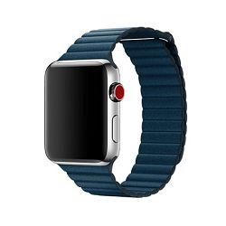 mqv72zm/a - Apple Watch 42mm Band: Cosmos Blue Leather Loop - Large - 190198580269