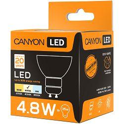 CANYON MRGU10/5W230VN38 LED lamp, MR shape, GU10, 4.8W, 220-240V, 38°, 330 lm, 4000K, Ra>80, 50000 h