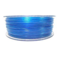 Filament for 3D, PET-G, 1.75 mm, 1 kg, blue transp