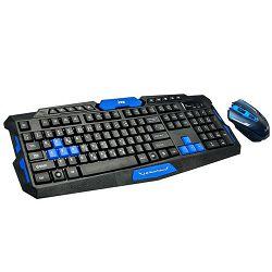 MS ACROBAT 2 crni bežični gaming set tipkovnica i miš