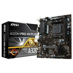 Matična ploča MSI A320M PRO-VH PLUS, AM4, DDR4, U3,mATX