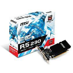 Grafička kartica MSI AMD Radeon R5 230 2GB GDDR3/128-bit PCIe, D-Sub/Dual-link DVI-D/HDMI, Heatsink, Low Profile (R5 230 2GD3H LP)