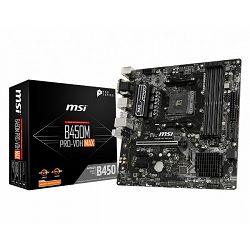 MSI B450M PRO-VDH MAX, AM4, DDR4, U3, m.2, mATX