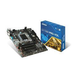 Matična ploča MSI H110M Pro-VDL, LGA1151, D4,S3,U3, HD, Gb Lan
