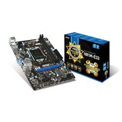 Matična ploča MSI H81M-E33,1150,D3,S3,U3,HDMI,VGA,mATX