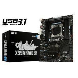 Matična ploča MSI X99 Raider, s2011-3, D4,S3,U3.1,,SLI,ATX