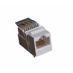 Masterlan self-tapping keystone UTP Cat.5e, white, rear terminal block