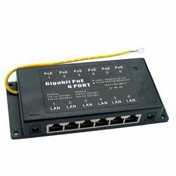 MaxcLink 6-Port Passive Gigabit PoE Injector