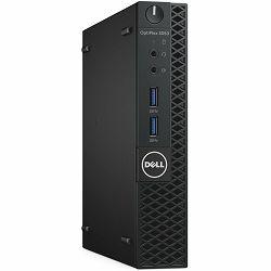 Računalo DELL Optiplex 3050 MFF, Intel Core i3-7100T (DC/3MB/4T/3.5GHz/35W), 4GB(1x4GB) DDR4, 500GB 2.5 SATA, Intel HD 630 Graphics, HDMI, 2xUSB2.0, 4xUSB 3.1, DisplayPort, RJ-45