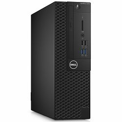 DELL OptiPlex 3050 SFF w/180W up to 85% efficient Power Supply, Intel Core i3-7100 (DC/3MB/4T/3.9GHz/65W), 4GB (1x4GB) 2400MHz DDR4, 3.5in 500GB 7200rpm SATA HDD, DVDRW, Intel HD 630, Mouse+Keyboard,