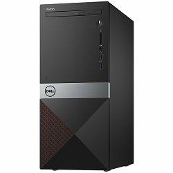 Računalo Dell Vostro Desktop 3670 w/290W PSU, Intel Core i3-8100(6MB, 3.6 GHz),  4GB(1X4GB)DDR4 2666MHz, 1TB 7200 RPM SATA 6Gb/s (64MB Cache), Intel UHD 630, DVDRW, 802.11bgn, BT 4.0, K+M, Linux