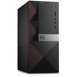 Računalo DELL Vostro 3668, Intel Pentium G4560(3MB Cache, up to 3.50 GHz), 4GB DDR4 2400MHz, 500GB (7200RPM) 3.5in SATA HDD, Intel HD 610, DVDRW, WiFi, BT, HDMI, VGA,