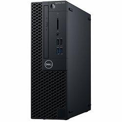 Računalo DELL OptiPlex 3070 SFF BTX w/200W up to 85% efficient PS, Intel Core i3-9100, 8GB DDR4 2666MHz, 3.5in 1TB 7200rpm SATA HDD, Intel integrated, 8x DVDRW 9.5mm, K+M, Linux, 3Y