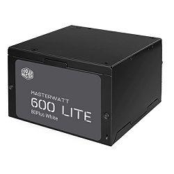 Napajanje 600W, COOLERMASTER MasterWatt Lite 600, MPX-6001-ACABW-EU, ATX v2.31, 120mm vent., PFC, 80+