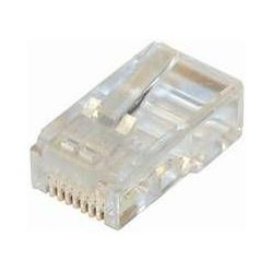 #216 NaviaTec CAT5e unshielded modular plug round cable 10pc