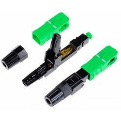 NFO Connector - fiber optic fast connector, SM 9 125, SC APC