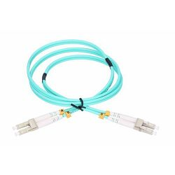 NFO Patch cord, LC UPC-LC UPC, Multimode 50 125, OM3, 3mm, Duplex, 3m