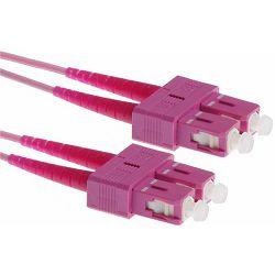 NFO Patch cord, SC UPC-SC UPC, Multimode 50 125, OM4, LSZH, 2mm, Duplex, 2m