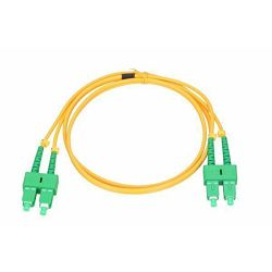 NFO Patch cord, SC APC-SC APC, Singlemode 9 125, G.657A2, 2mm, Duplex, 15m