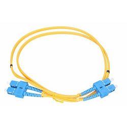 NFO Patch cord, SC UPC-SC UPC, Singlemode 9 125, G.652D, 3mm, Duplex, 2m