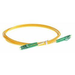NFO Patch cord, LC APC-LC APC, Singlemode 9 125, G.657A2, 2mm, LSZH, Duplex, 2m