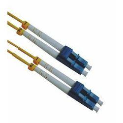 NFO Patch cord, LC UPC-LC UPC, Singlemode 9 125, G.652D, 2mm, LSHZ, Duplex, 1m