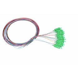 NFO Fiber optic pigtail SC APC, SM, G.657A1, 12 colors, 1m