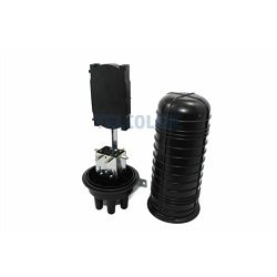 NFO Splice Closure, 4 round and 1 oval input output, pole and wall mount