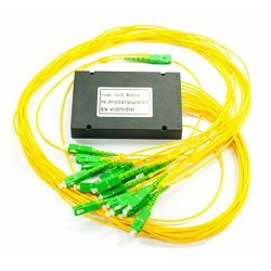 NFO Fiber Optic PLC Splitter, 1:32, ABS Box, SM, G.657A, 1m, SC APC