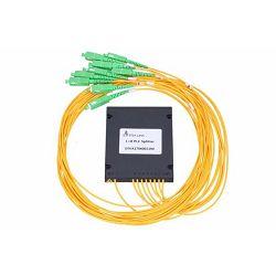 NFO Fiber Optic PLC Splitter, 1:8, ABS Module, SM, G657A, 1,5m, SC APC