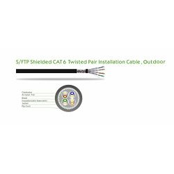 NaviaTec Cat6 Outdoor S FTP CU AWG23 305m Spool