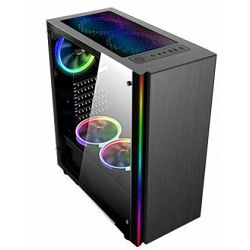 Kućište NaviaTec Gaming Case with 4 Colorful LED Fans