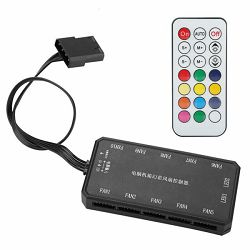 NaviaTec RGB Computer Fan Controller with Remote Control