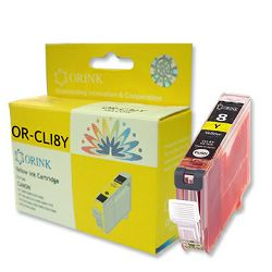 Zamjenska tinta Canon CLI-8Y, žuta (s mikročipom) Orink